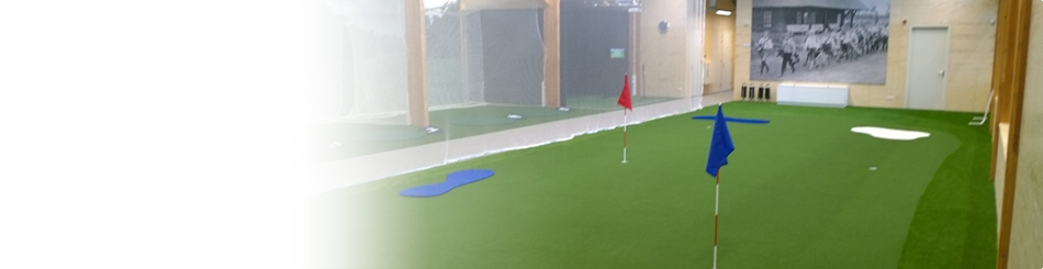 Indoor golf kunstgras